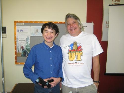 Commander Ben and Dr. Greg Clark at Explore UT