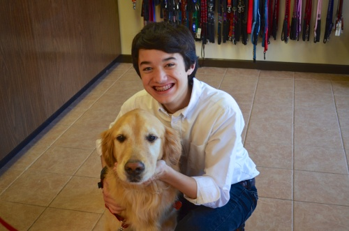 Max and Me at Austin Dog Alliance