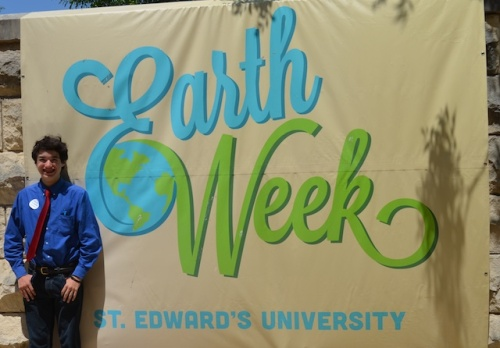 Commander Ben joins St Edward's Earth Week celebrations