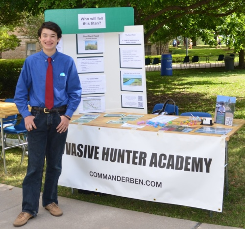 Commander Ben and the Invasive Hunter Academy at St. Edward's University