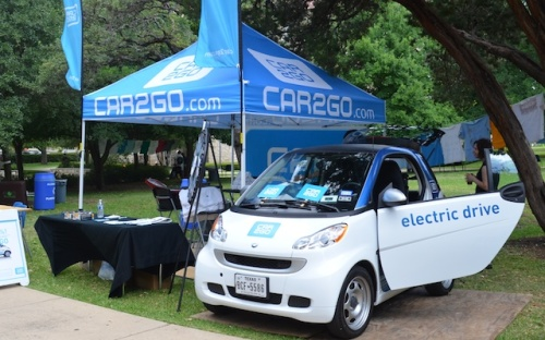 Car2Go at St. Edward's Earth Week celebrations