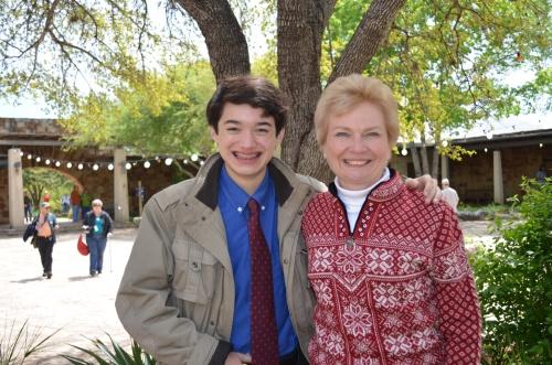 Commander Ben & Ms. Saralee Tiede at The Lady Bird Johnson Wildflower Center