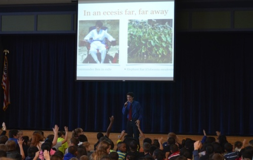 """Commander Ben talks about his """"Ecesis Far Far Away"""" video and the invasive species Elephant Ear."""