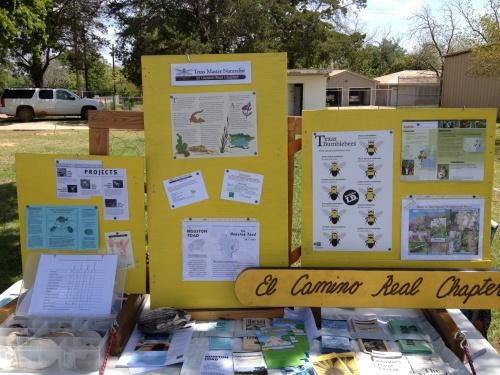 El Camino Real - Texas Master Naturalists Chapter display