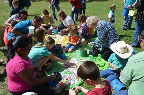 Kids having fun at the Milam County Nature Festival