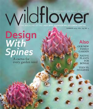 Commander Ben Featured in Summer 2013 Wildflower Center Magazine