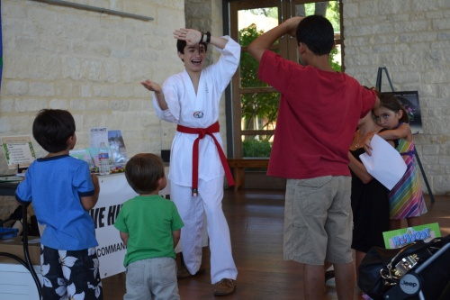 Young naturalists train to be invasive hunters during a previous Nature Nights at the Lady Bird Johnson Wildflower Center