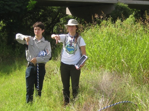 We gave a thumbs down to the invasive species, Johnson Grass