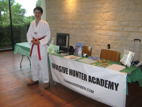 Invasive Hunter Academy setup before the Nature Nights event