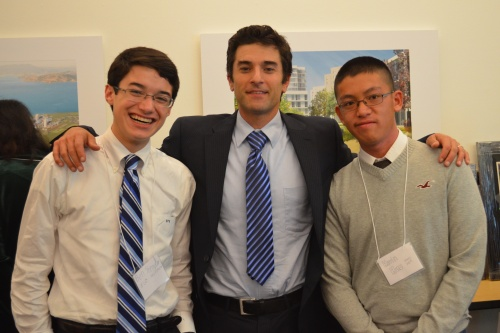 Ben Shrader, Brent Plater, and Kevin Huo during the Action for Nature Awards Reception