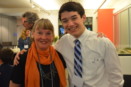 Action for Nature President Beryl Kay with Benjamin Shrader