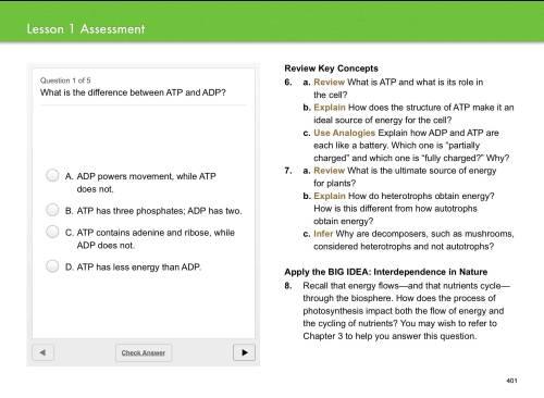 Miller and Levine Biology iBook quiz