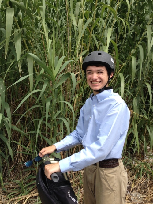 That Arundo donax is messing with the wrong Segway rider.