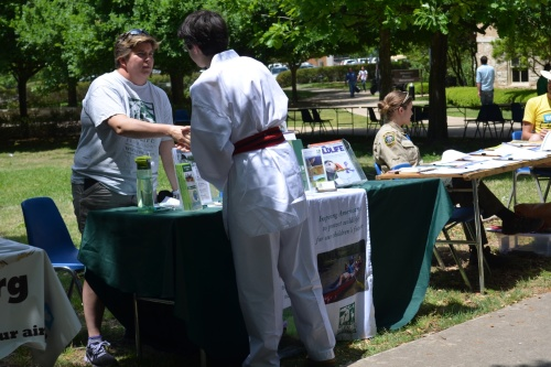National Wildlife Federation booth during Earth Day at St. Edward's University