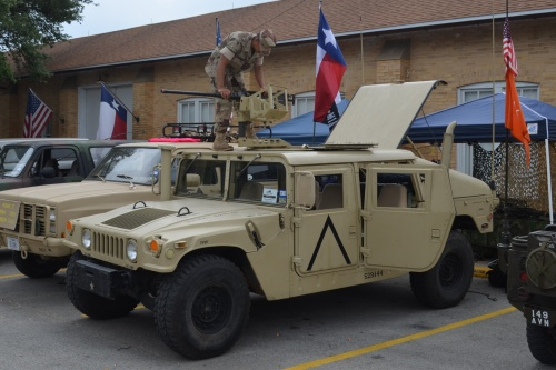 Humvee parked outside the Texas Military Forces Museum
