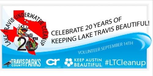 Lake Travis Underwater and Shoreline Cleanup (Image credit: Keep Austin Beautiful)