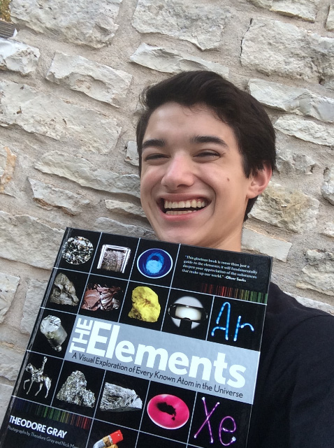 I am in an electron shell of knowledge with Theodore Gray's The Elements book
