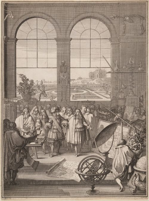 Sébastien Leclerc I, Louis XIV Visiting the Royal Academy of Sciences, 1671 (Source: Wikipedia - The Elisha Whittelsey Collection, The Elisha Whittelsey Fund, 1962)