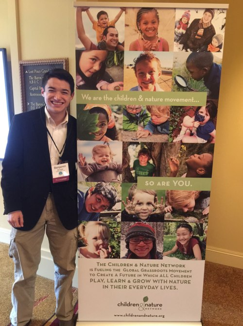 Commander Ben checking into the Children and Nature Network Conference 2015