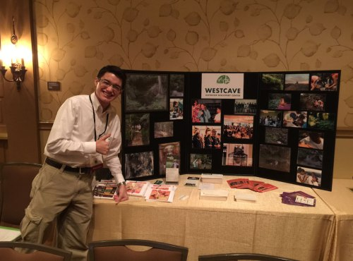 The Westcave Outdoor Discovery Center had an informative display at the back of the meeting room at the 2015 Children and Nature Conference