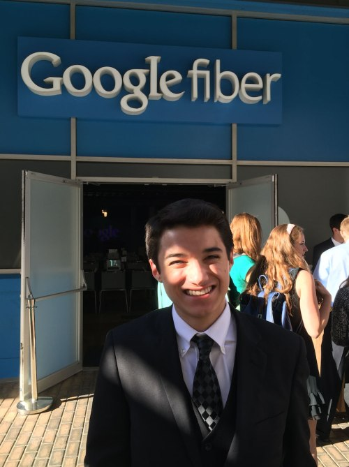Commander Ben getting ready to attend the UT Austin ESI outreach dinner at the Google Fiber space.