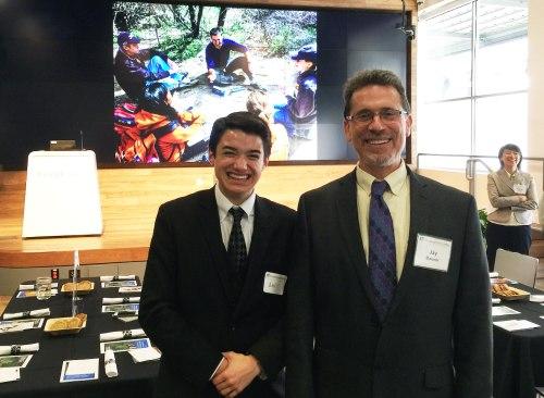 Dr. Jay Banner and Ben Shrader at the UT ESI dinner.
