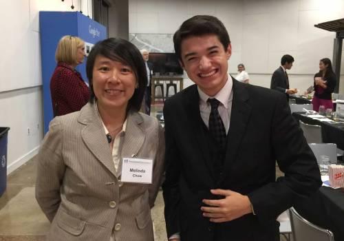 Ms. Melinda Chow and Ben Shrader at the UT ESI dinner.