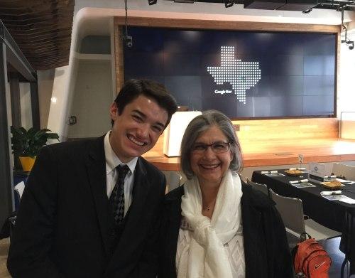 Ms. Nina Schenck and Ben Shrader at the UT ESI dinner.